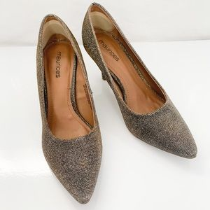 🦩2/$25 Maurices / Glitter Pointed Toe Pumps